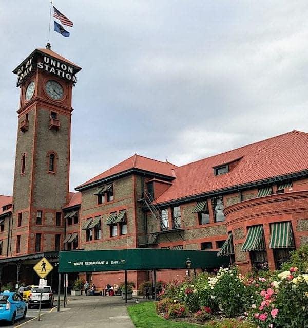 Entrance to Portland Oregon Union Station