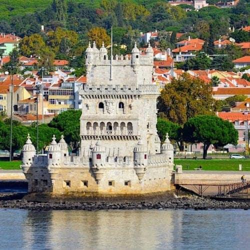 Lisbon, Portugal harbor.