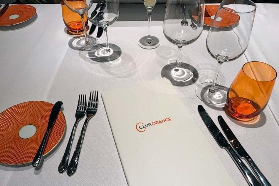 Holland America Club Orange dining