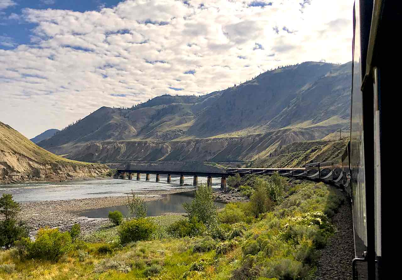 Luxury train Rocky Mountaineer in Canada