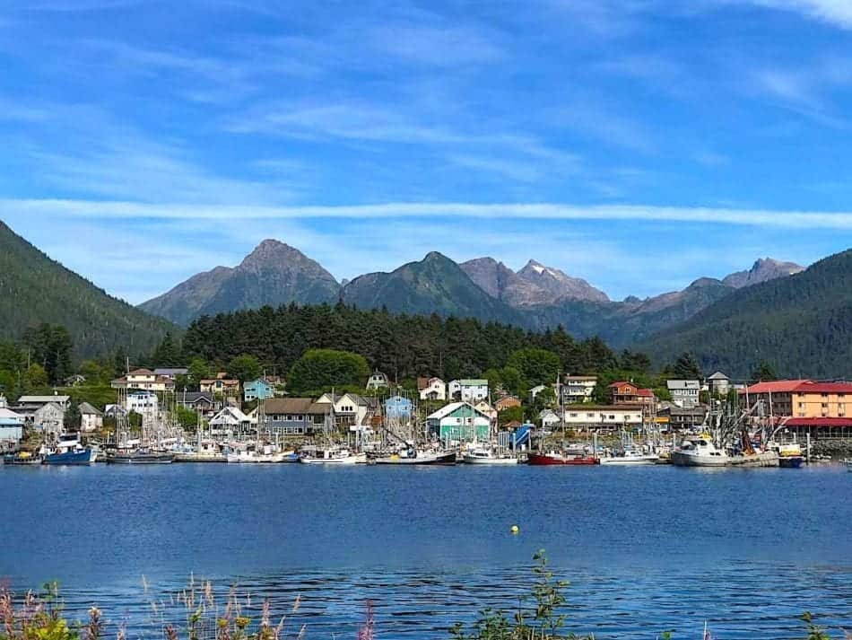 View of Sitka from across Sitka Sound