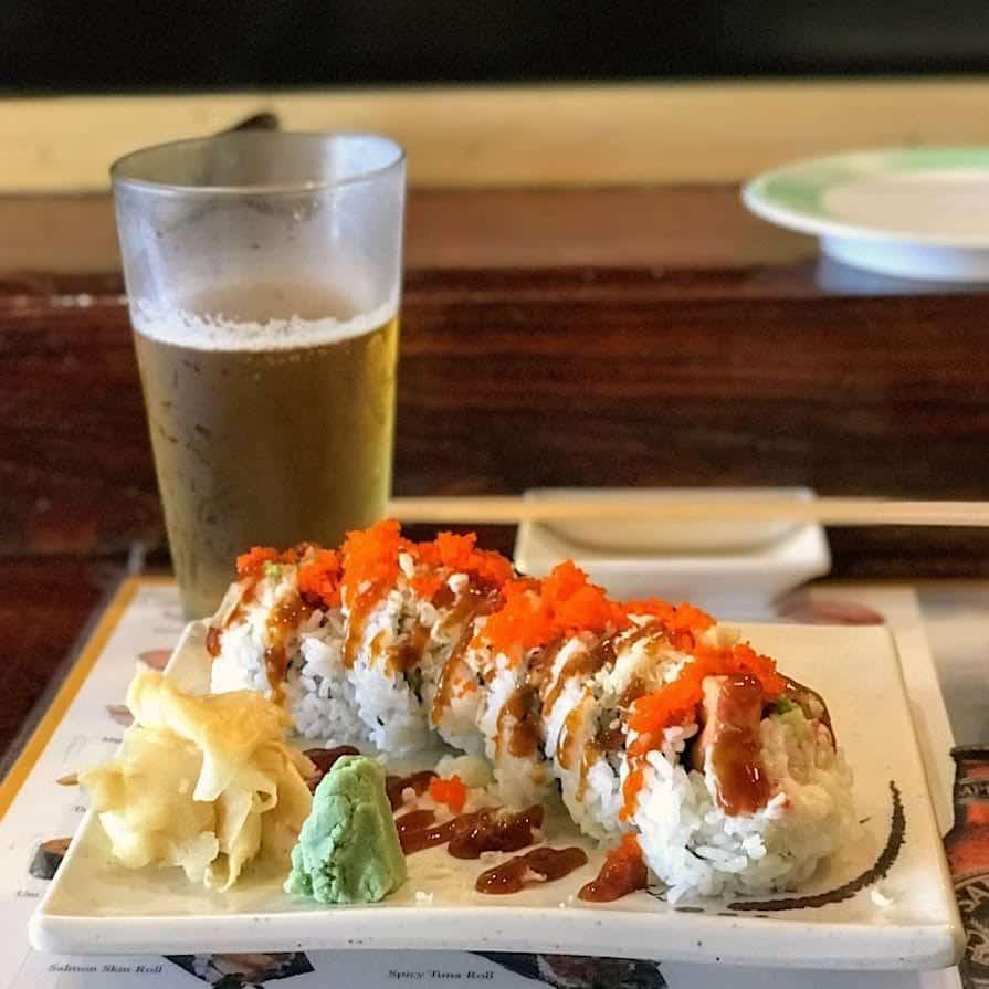 Sushi at Little Tokyo restaurant in Sitka Alaska