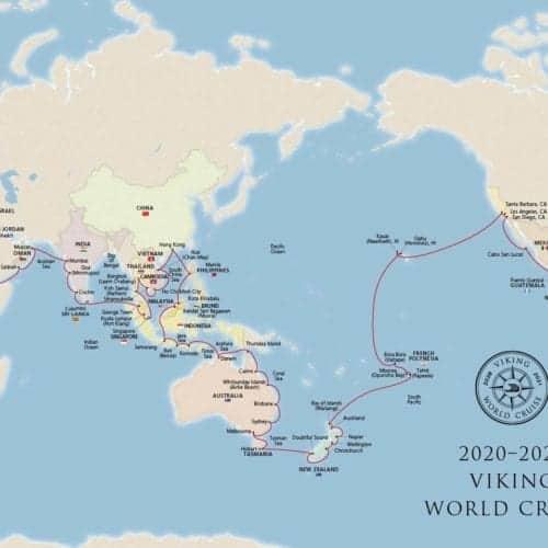 Viking Cruises World Cruise Map