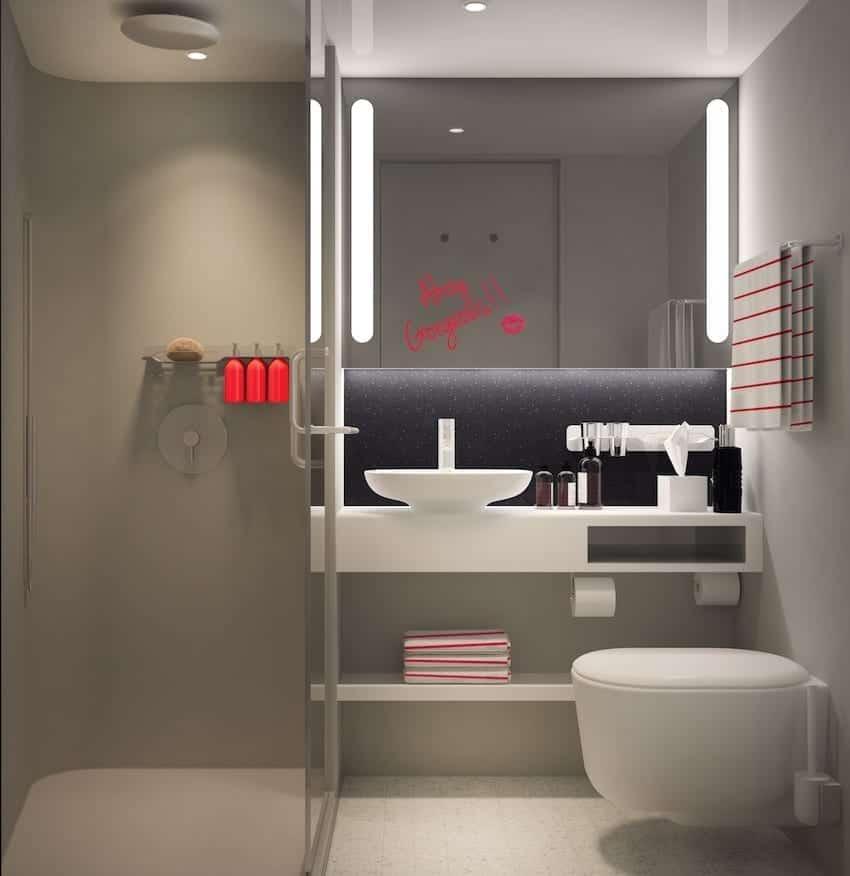 Virgin Voyages Cabin Rain Shower Bathroom