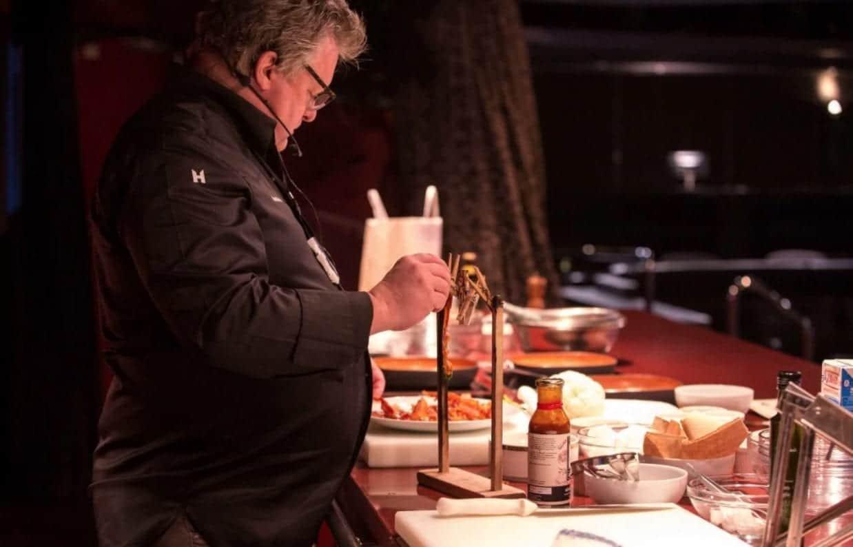 David Burke Holland America Food & Beverage Cruise Bacon clothesline