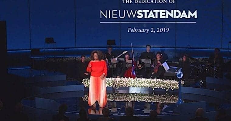 Oprah Winfrey Christened Nieuw Statendam in Fort Lauderdale