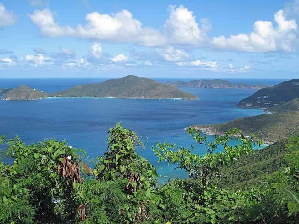 View of the ocean from Tortola British Virgin Islands