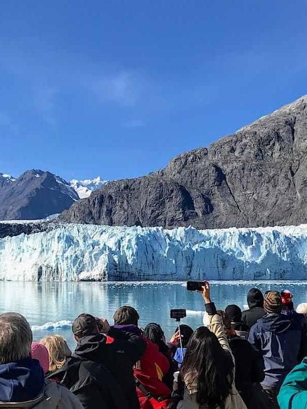 View of Alaska Marjerie Glacier from Eurodam deck