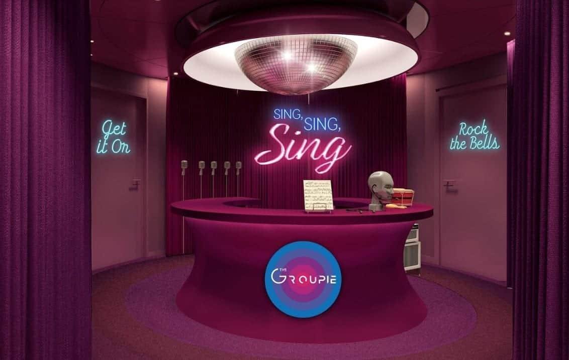 Virgin Voyages The Groupie Karaoke Lounge