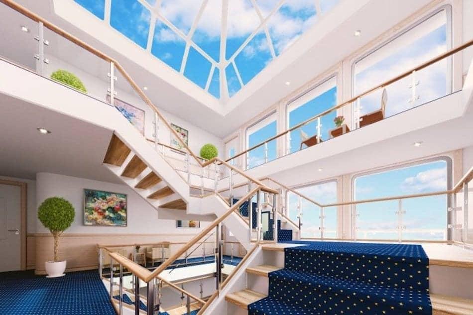 American Cruise Lines Modern Riverboat Atrium