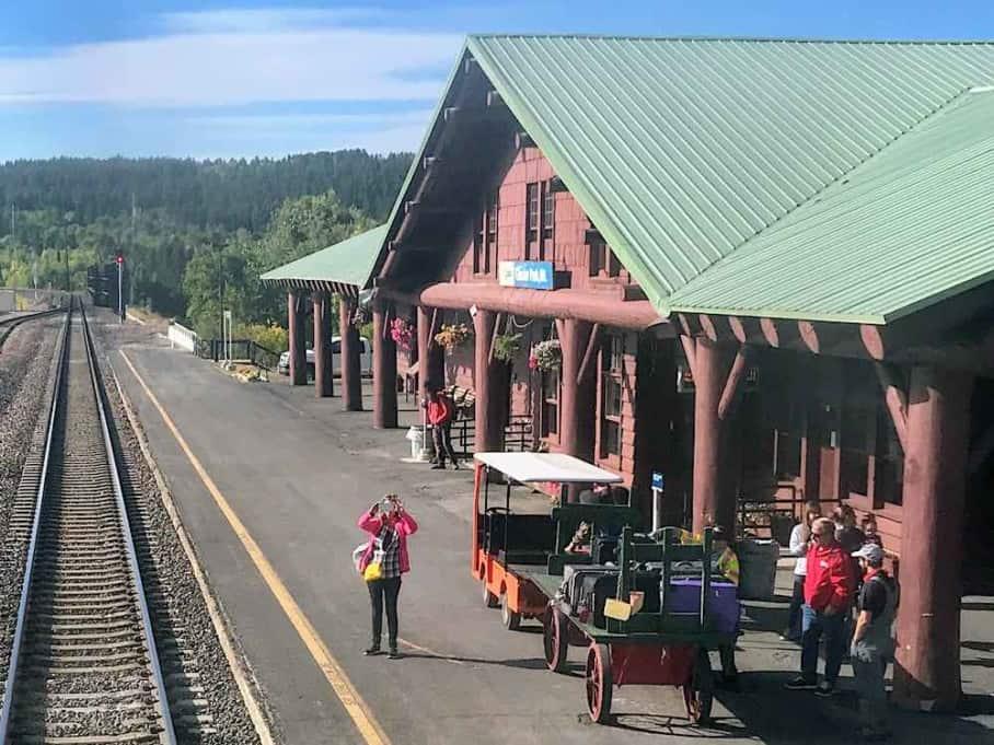 Amtrak Empire Builder Glacier Park Montana