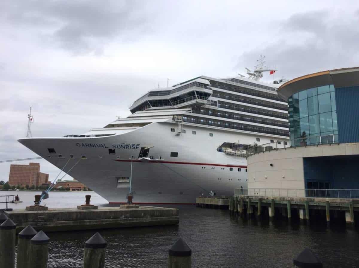 Carnival Sunrise cruises from Norfolk