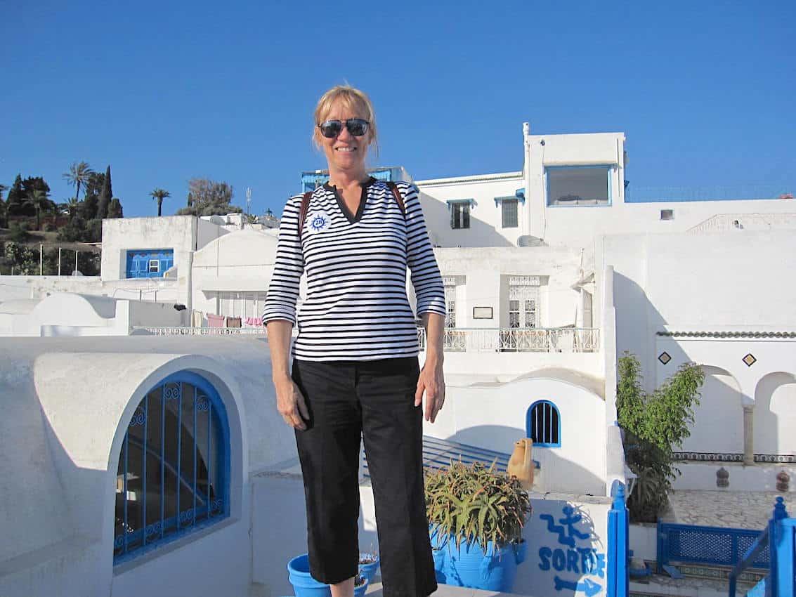 Sherry on a solo trip in Tunisia