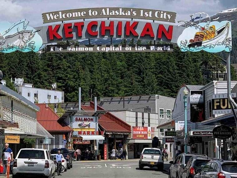 Ketchikan Alaska Welcome Sign