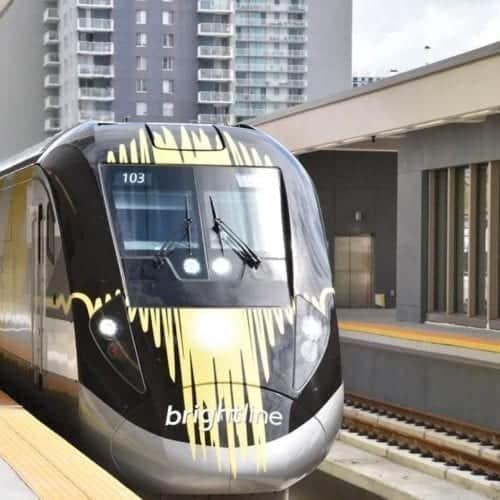 Brightline Train in Miami