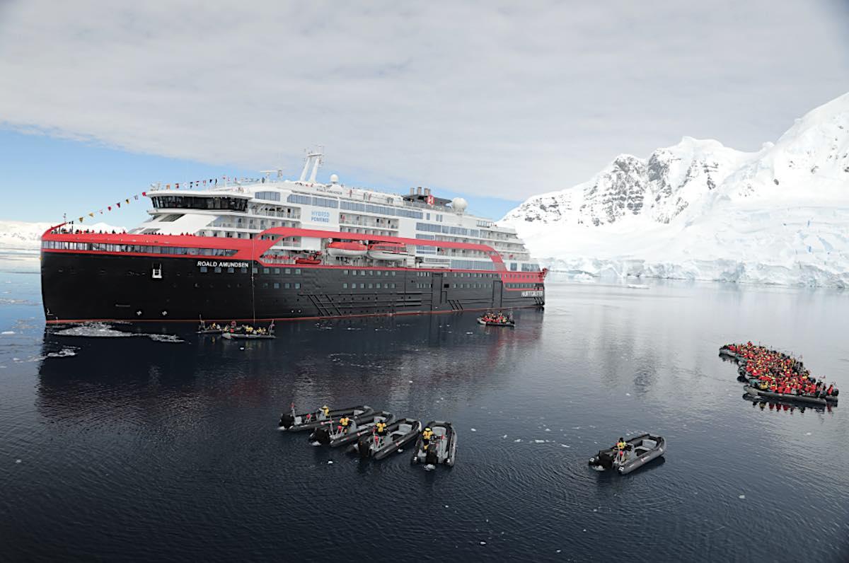 Hurtigruten Holds Ship Naming Event in Antarctica