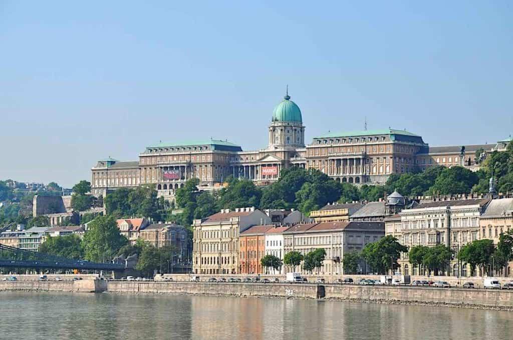 Buda Castle across the Danube River