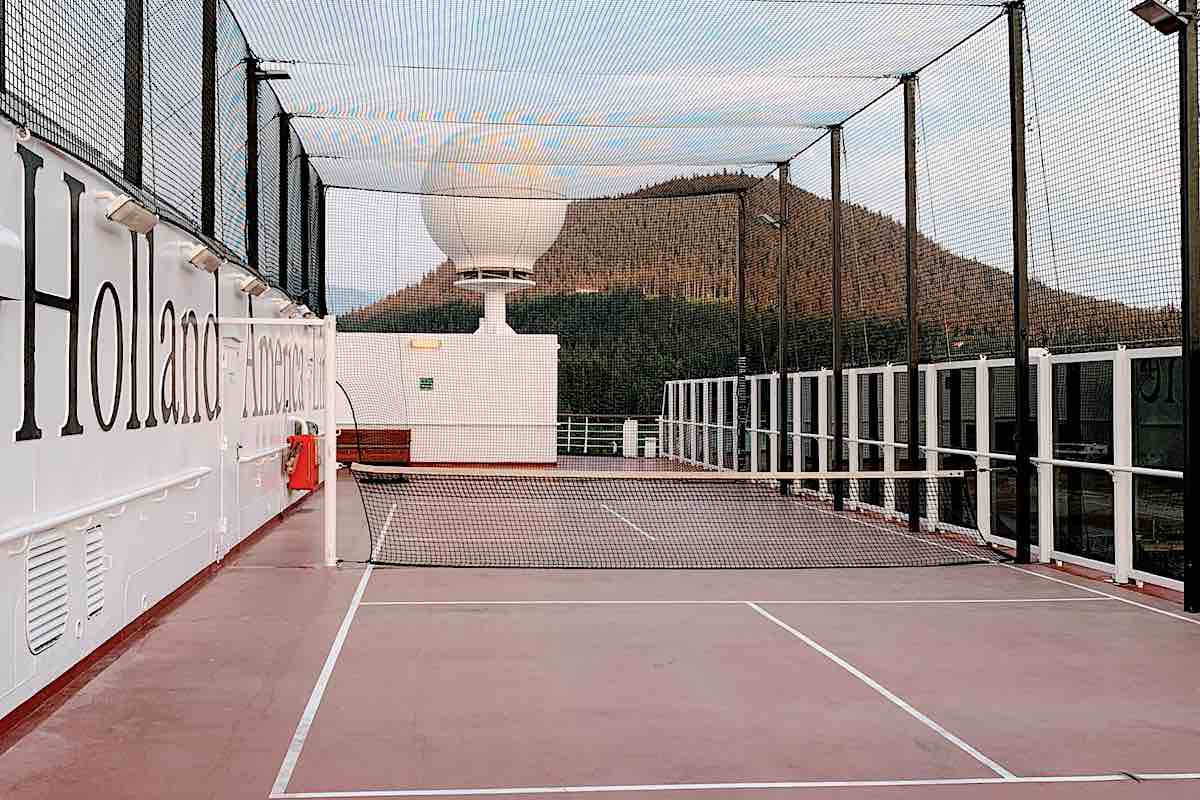 Holland America pickleball court