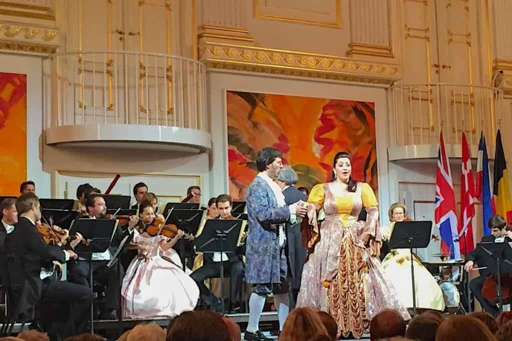 At the opera hall in Vienna, Austria.