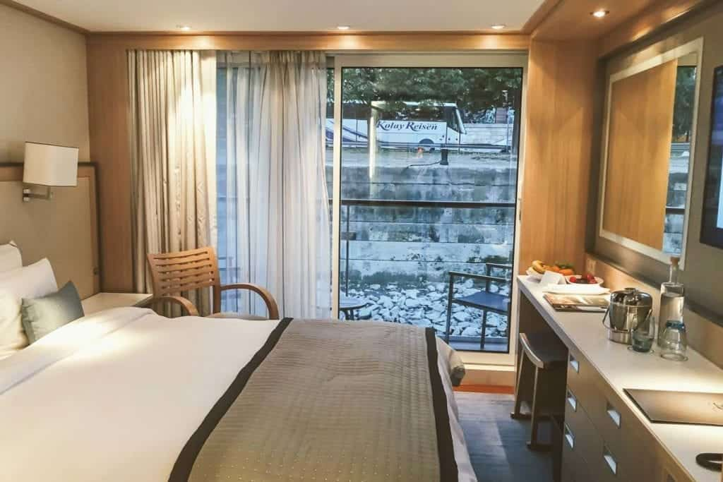 Our Danube cruise began in Budapest aboard Viking Skadi. This is my cabin.