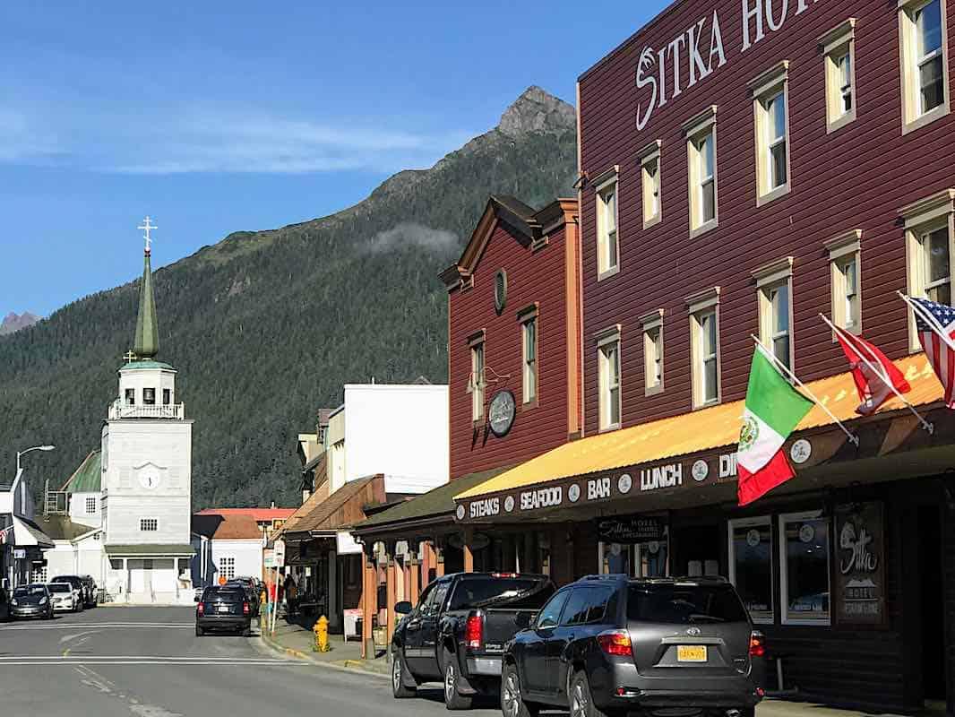 Downtown Sitka, Alaska.