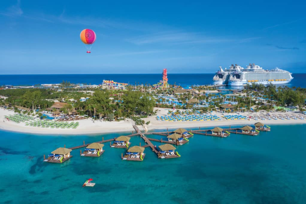 Perfect Day at CocoCay view from above.