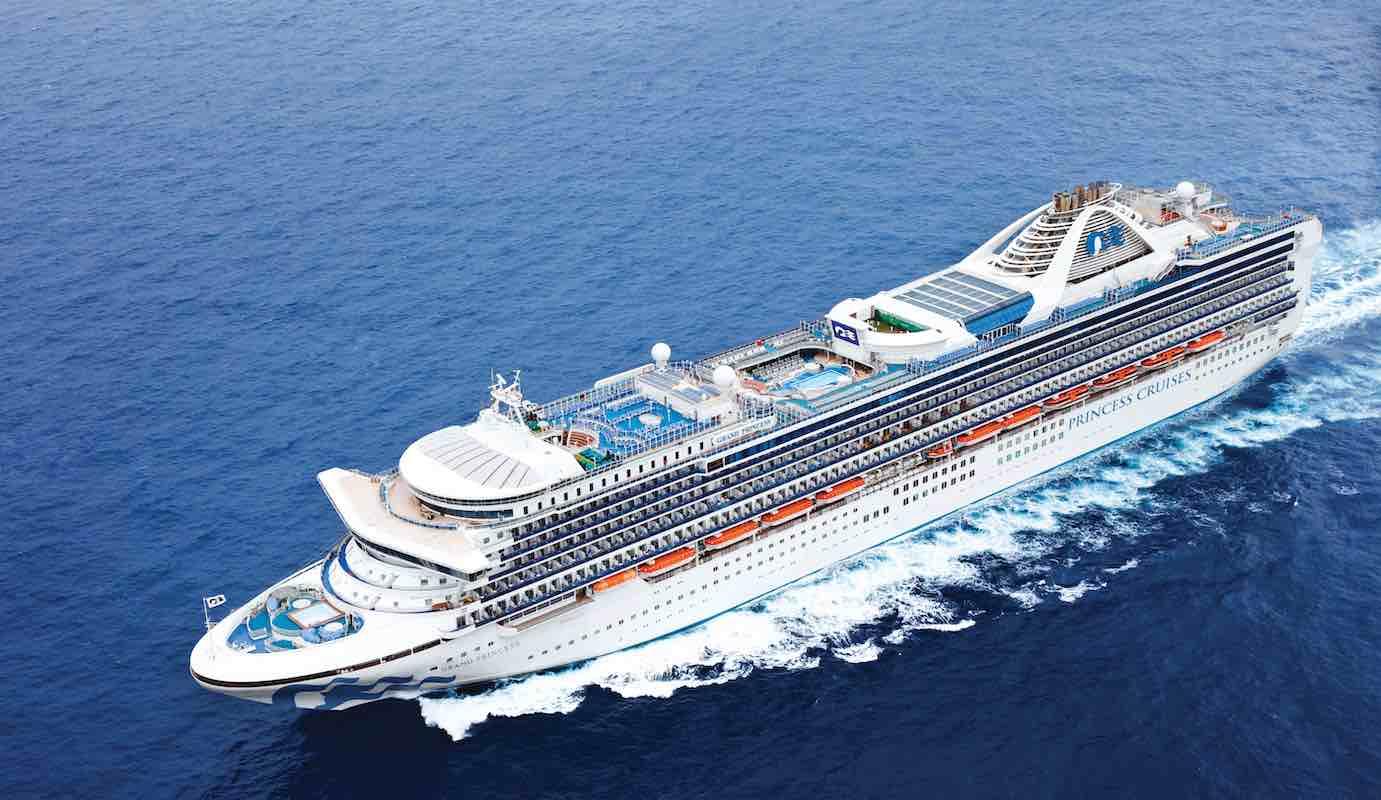 Grand Princess cruise ship at sea
