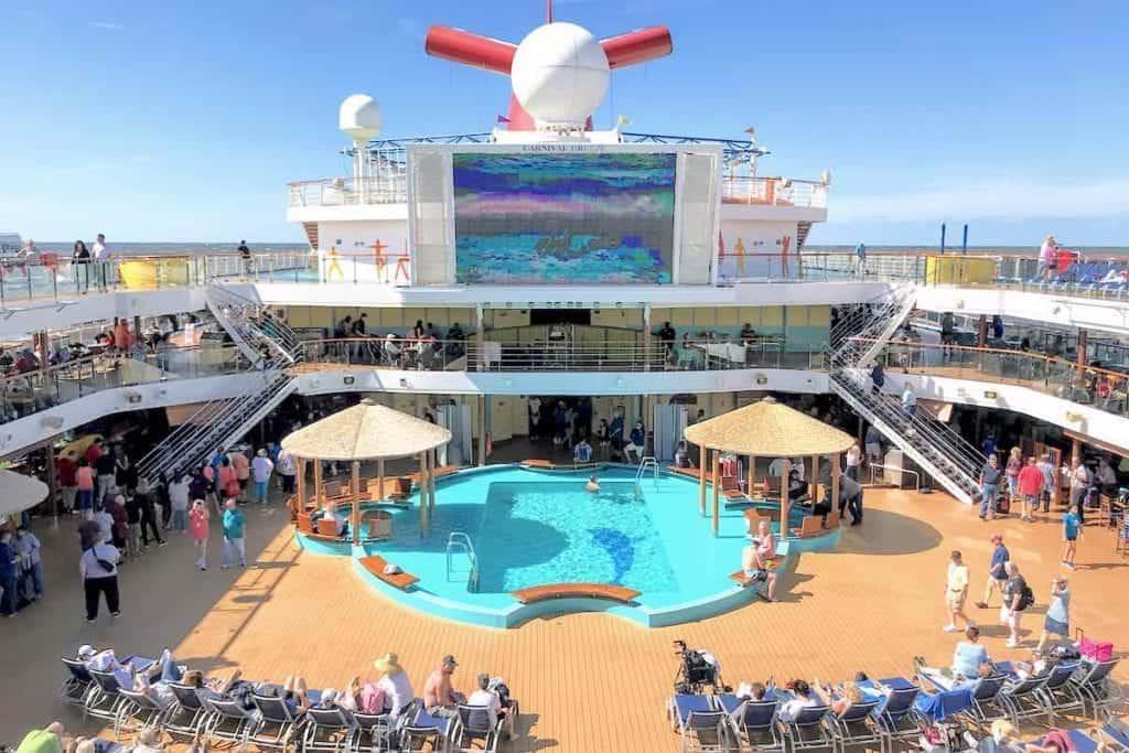Carnival Breeze Pool Deck