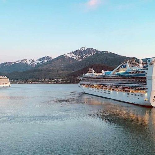 Princess cruise ship in Juneau