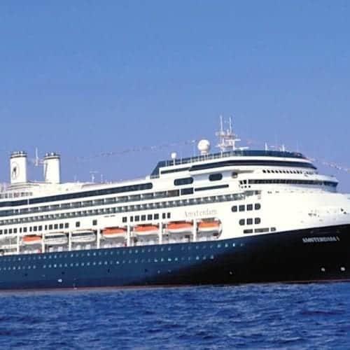 Holland America Amsterdam at sea.