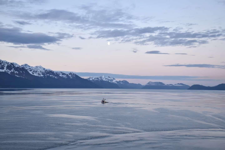 Seward at dawn aboard Radiance of the Seas