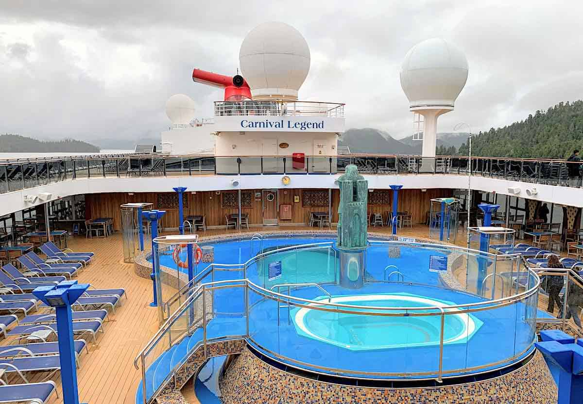 Carnival Legend Main pool area