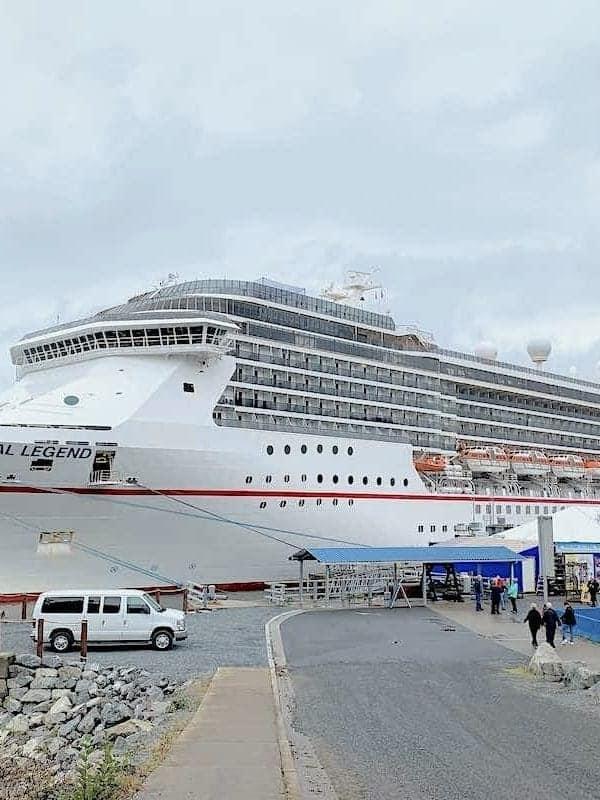Carnival Legend Docked in Sitka Alaska