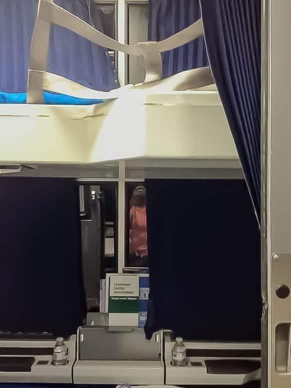 Upper bunk in roomette