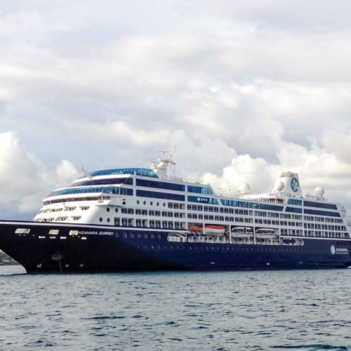 Azamara Journey, sister ship to newly-named Azamara Onward.