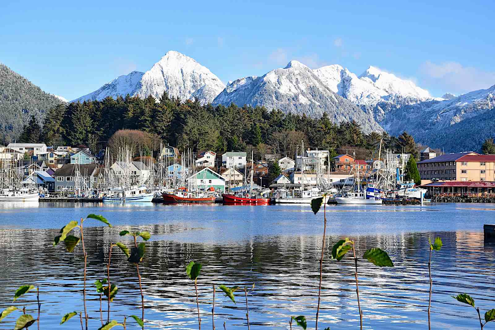 Alaska cruise 2021 could visit Sitka, pictured here with snowcapped mountains