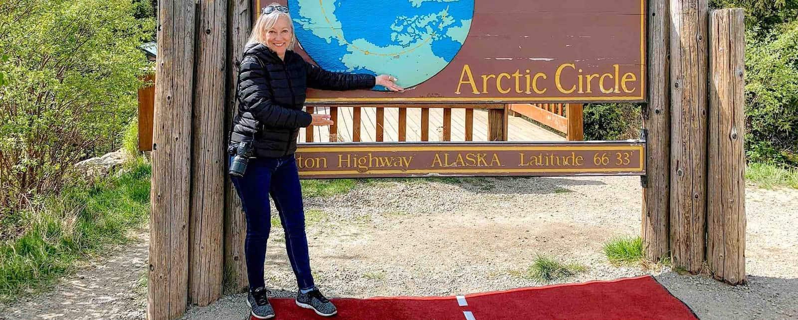 Sherry at Arctic Circle
