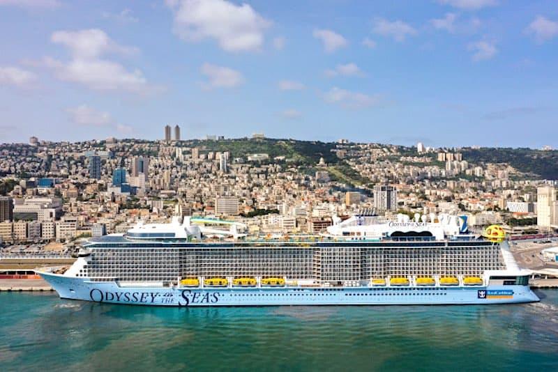 Odyssey of the Seas arrives Haifa, Israel.