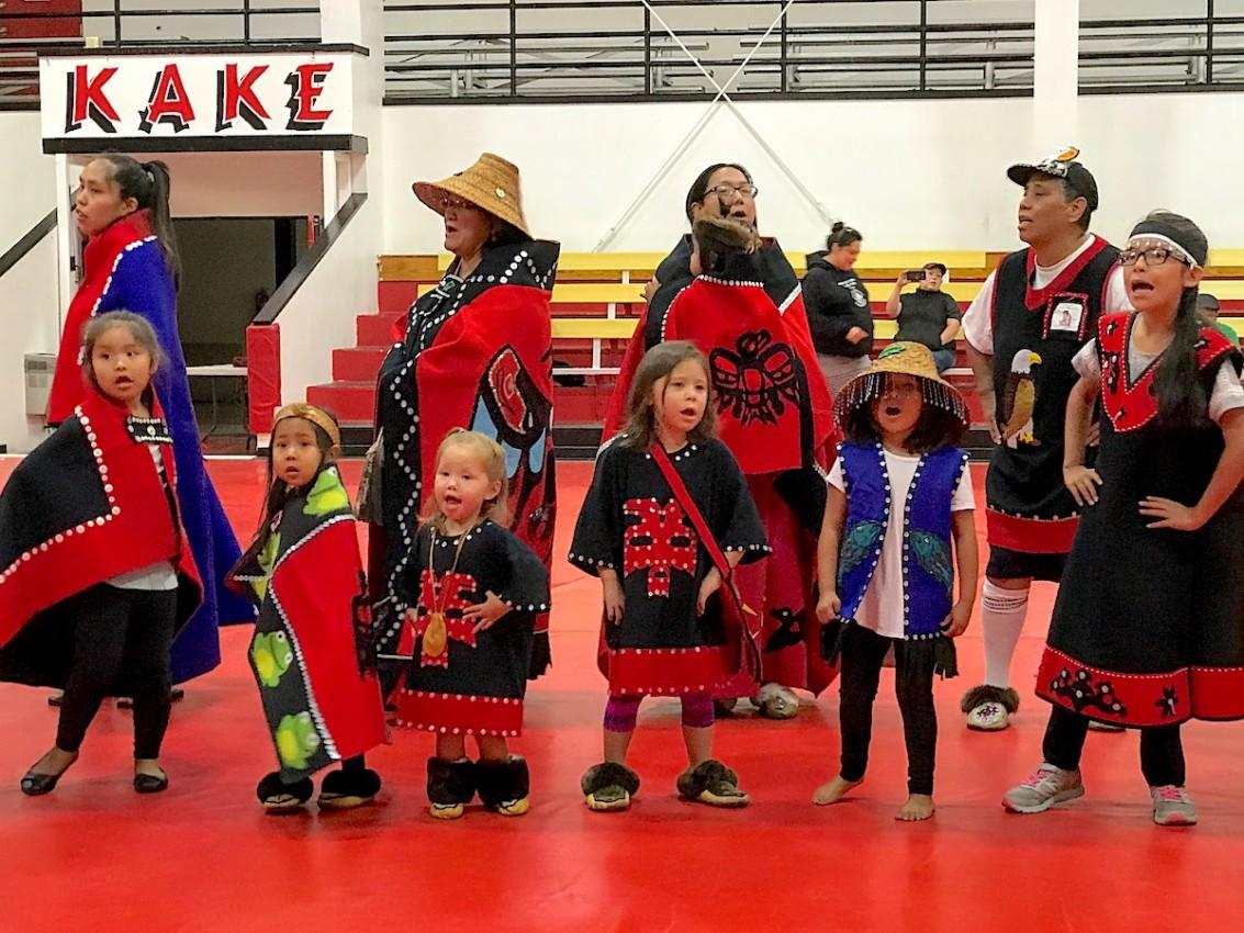 Kake Tlinglit dancers