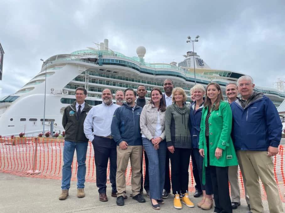 Senator Lisa Murkowski welcomes first ship to Alaska in 2021, Serenade of the Seas in Ketchikan