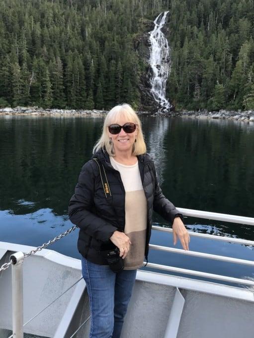 At the waterfall coast on Baranof Island