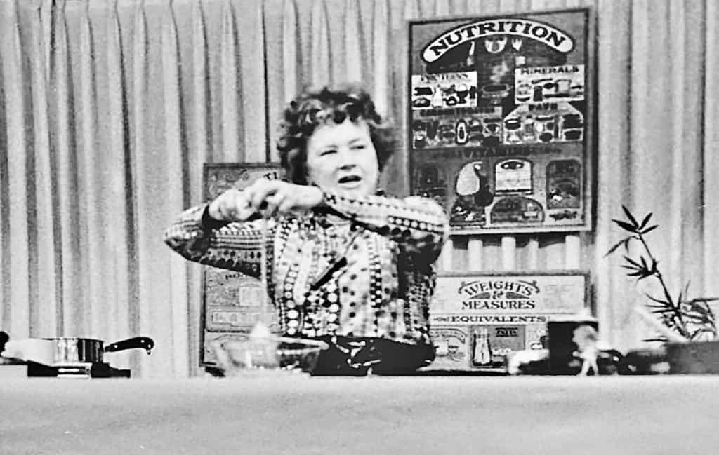 Julia Child cooking demonstration at Burdine's Department Store, 1971.