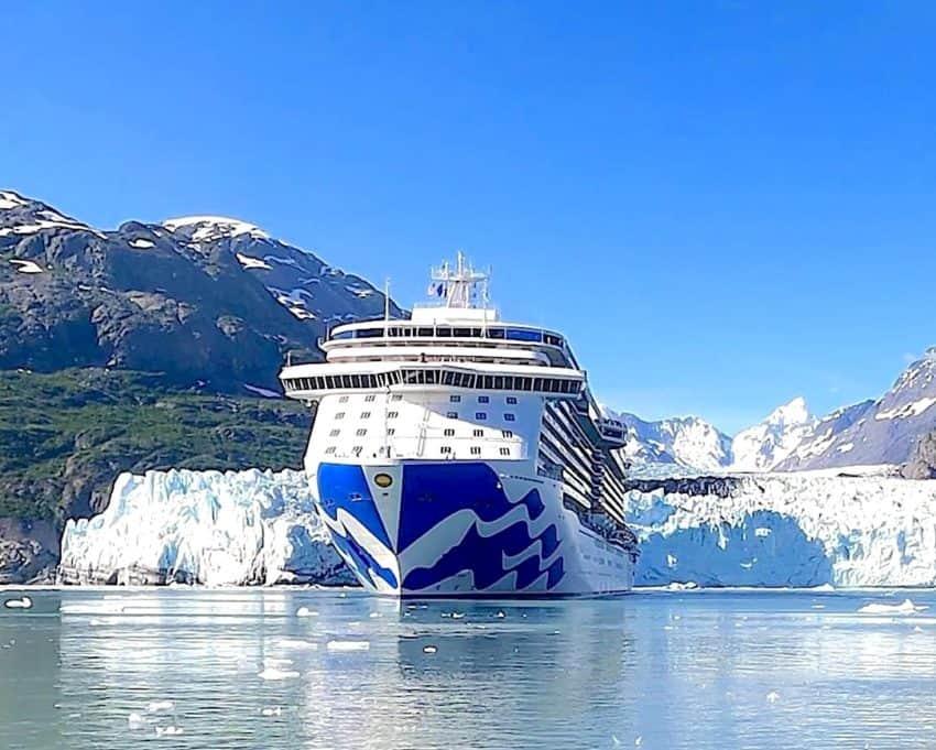 Princess Cruises Majestic Princess Alaska cruise in Glacier Bay
