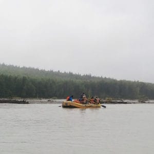raft tour on the Chilkat River in Haines Alaska