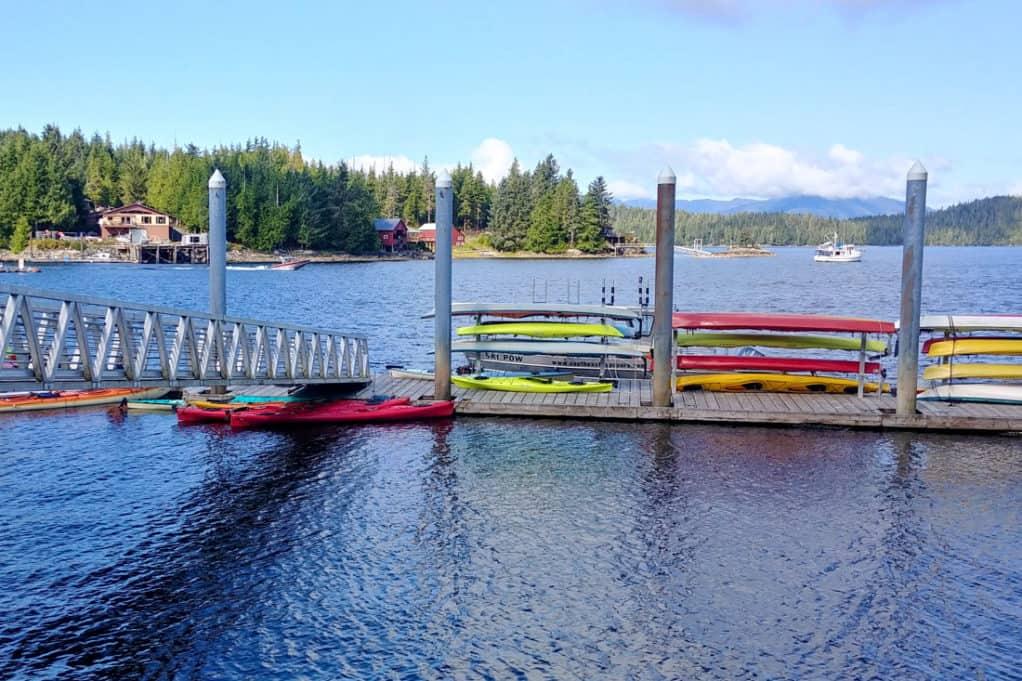 Eagle Island sea kayaking dock in Ketchikan, Alaska